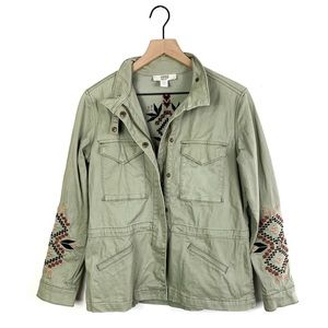 Vintage America Penny Embroidered Military Jacket